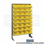 Sloped Bin Shelves Wall Unit Slanted Parts Picking Storage Rack Quantum QPRS-107