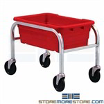 Rolling Tote Cart Storage Rack One-High Tub USDA FDA Food Quantum TR1-2516-8