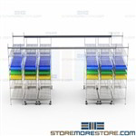 Rolling Side to Side Wire Shelving Moving Sideways Maximize Storage Space Bins
