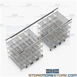 Condensing Wire Storage Units Top Track Shelving Saves Space SMS-TT-2460-14-4