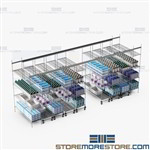 Wire Storage Racks Save Space Top Track Shelving Hospital SMS-TT-1860-12-4