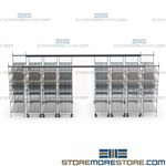 Top Track Sliding Wire Shelving Bins Racks Maximize Supply Storage Space System
