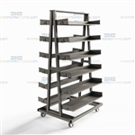 Parts Kitting Cart Assembly Inventory Storage Wheels Mobile Batch Picking Bins