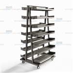 Bulk Parts Shelving Cart Metal Tray Shelves Adjustable Removable Shelf Rack