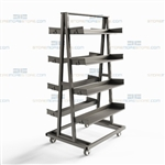 Parts Assembly Cart Rolling Kitting Pick Station Removable Steel Shelves Mobile