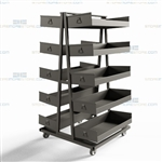 Picking Carts for Order Pickers Material Handling Heavy-Duty Steel Storage Bins