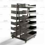 Warehouse Pick Carts Heavy-Duty Industrial Storage Shelves Material Handling