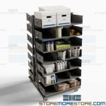 Order Picker Carts Material Handling Heavy-Duty Industrial Parts Storage Shelf