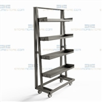 Rolling Bin Trays Metal Parts Bins Wheels Heavy-Duty Steel Construction Rack