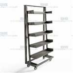 Bin Shelving Cart Storage Rack Wheels Mobile Heavy-Duty Industrial Mobile Rack