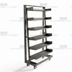 Cart Removable Shelves Adjustable Storage Levels Heavy-Duty Distributing Parts