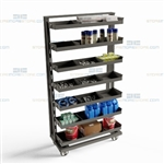 Parts Restocking Cart Manufacturing Inventory Trolley Truck Industrial Duty Rack