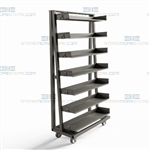 Heavy-Duty Shelf Cart Steel Storage Shelves Adjustable Mobile Rack Shelving Bins