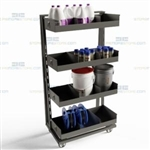 Parts Distribution Carts Storage Shelf Truck Removable Shelves Manufacturing Bins