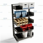 Maintenance Parts Cart Hardware Tools Heavy-Duty Transportation Trolley Carts Bin