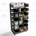 Adjustable Shelf Cart 7 Levels Adjustable Easily Removable Shelves Storage Rack