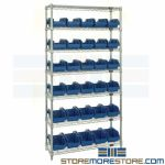 Bin Racks Double-Sided Wire Shelving Plastic Storing Small Parts Picking Quantum