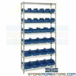 Double-Sided Wire Bin Shelving Wire Storage Racks Plastic Bins QuickPick Quantum