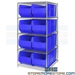 "Huge Plastic Bins Shelves Wire Racks Storage Totes 36"" Long Containers Quantum"