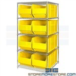 "Extra Large Bins Wire Shelves Big Storage Totes 36"" Long Bulk Parts Racks"