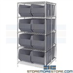 Bulk Rack Storage Bins Large Plastic Quantum Wire Shelving WRA86-2142C-206