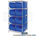 Large Bins Bulk Racks Storage Plastic Picking Bins Big Quantum WRA86-2148C246