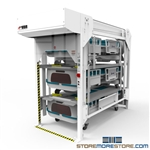 Extra Large Hospital Bedlift Storage Rack to store beds in less space