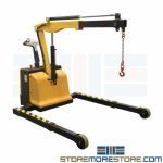 Electric Floor Crane Mobile Powered Boom Steel Rolling Shop Lifter