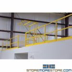 Mezzanine Safety Gate Safety Yellow OSHA Entrance Industrial Protection