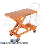 Rolling Cart Adjustable Height Platform Lift Table