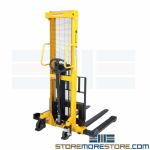 Hand Pump Forklift Stacker | Material Handling Equipment | SMS-46A-HVHPS-2000-AA