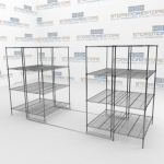 Rolling Wire Storage Racks and Space Saving Wire Shelving
