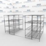 Sliding Wire Storage Racks and Commerical Bakers Racks
