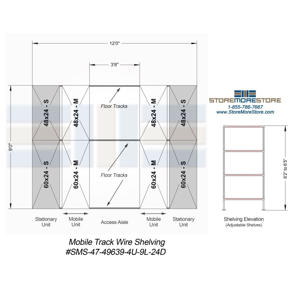 Mobile Wire Rack | Condensed Wire Shelving System | Medical Products ...