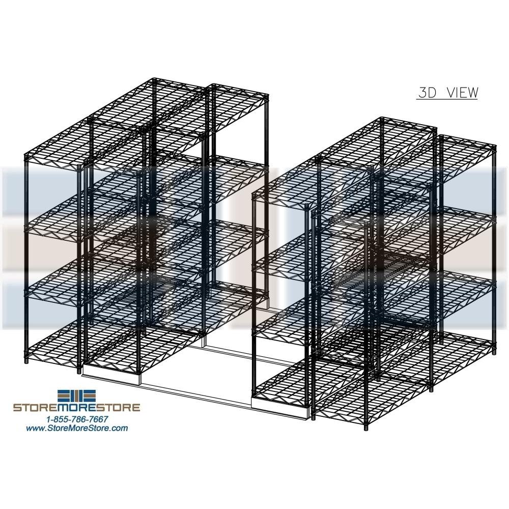Movable Metal Wire shelving | Chrome Steel Wire Shelf Racks | Wire ...