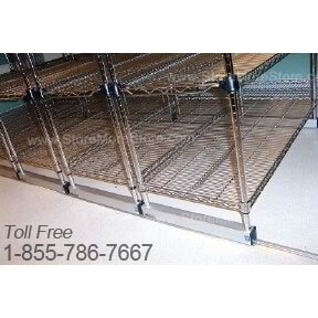 Wire Shelving on Rails | Chrome Wire Shelving Units | Industrial ...