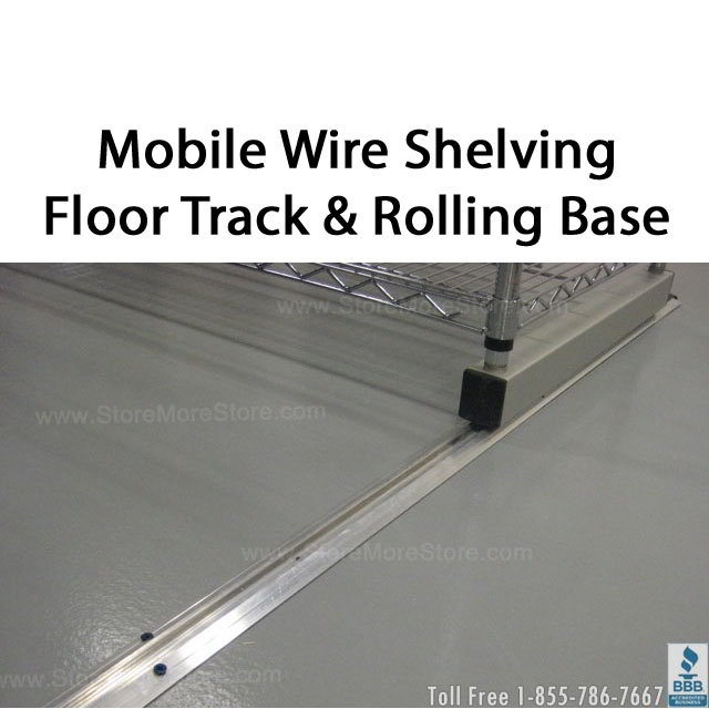 Sliding Wire Shelves on Tracks | Chrome Wire Shelving | Wire ...