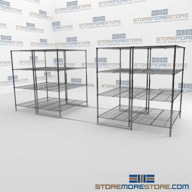 Moving Modular Wire Shelving | Moving Pantry Sliding Wire Shelving ...