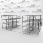 Moving Metal Wire Storage Shelving Rolling Commercial Wire Shelving Mobile Kitchen Can Wire Shelving