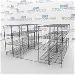 Wire Shelving on Tracks Cafeteria Storage Racks More Product in Less Space