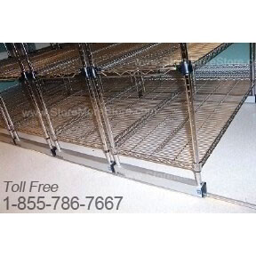 Wire Shelving on Tracks Cafeteria Storage Racks More Product in Less ...