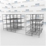 Mobile Wire Racks on Tracks Bulk Storage Shelves for Restaurants Food Service