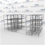Compacting Wire Shelves on Tracks Reduce Storage Space Hospitals