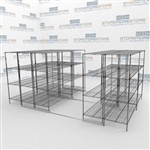 Condense Wire Shelves on Tracks Cleanroom Supplies Space Saving Storage