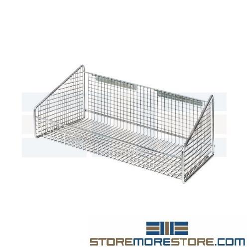 Hanging Wire Shelves | Hanging Wire Bin Shelf Supply Parts Room Adjustable Shelving Racks