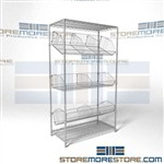 Quantum 1848BC6C Medical Supply Shelving Hospital bandage storage shelving medical clinic par or Kanban storage shelving allows for JIT inventory systems used in conjunction with labels, wire dividers and flags that allow for restocking