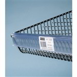 Basket Label Holder for wire baskets that are part of the Quantum's Partition Wall System, PAR or Period Automatic Replenishment Inventory Management systems allow for localized inventory in hospitals, Quantum HBL345C