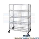 Rolling Wire Shelving Carts
