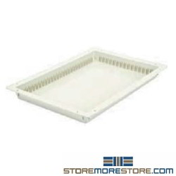 Quantum PS-PT16242 24 inch x 16 inch x 2 inch Solid Tray PS-PT16242