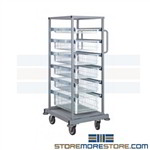 Wire basket drawer shelving carts on wheels